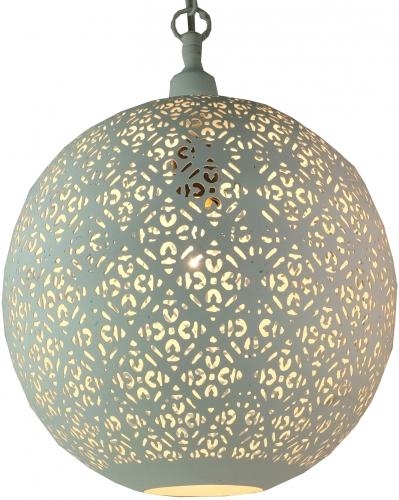 wei e metall deckenleuchte in marrokanischem design orientalische kugel deckenlampe wei. Black Bedroom Furniture Sets. Home Design Ideas