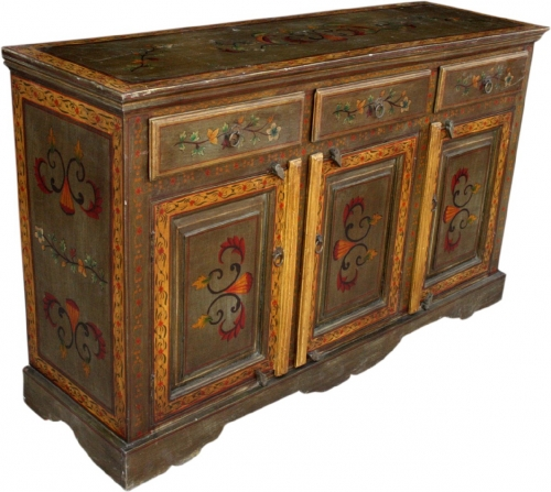 Painted chest of drawers, sideboard - Model 1 - 93x153x47 cm