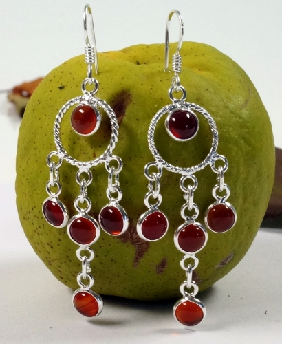 Bollywood silver earring