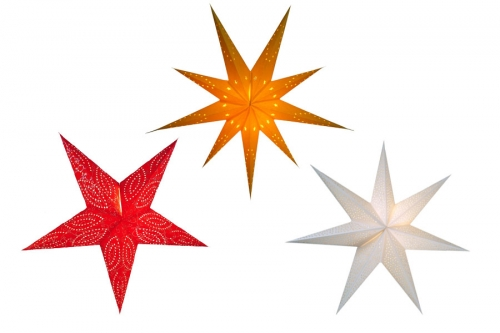 Unicoloured Paper Stars