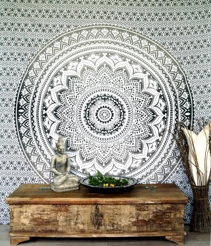 indisches mandala tuch wandtuch tagesdecke mandala druck. Black Bedroom Furniture Sets. Home Design Ideas