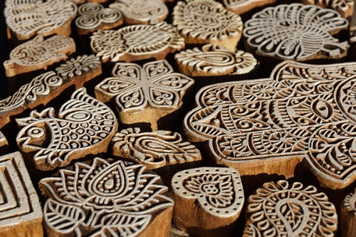 Wooden stamps from India