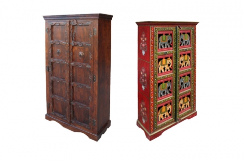 kleiderschr nke orientalisch antik und im kolonialstil. Black Bedroom Furniture Sets. Home Design Ideas