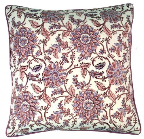 Cushion cover block print, cushion cover ethno, decorative cushion cover with traditional design - pattern 15 - 40x40x0,5 cm