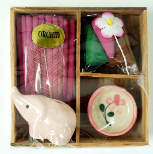 Smoking fragrance set - Orchid - 2x7x7 cm