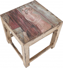 Side table with painting - medium
