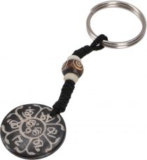 Ethno Tibet Keychain, Engraved Bag Tag - Mantra