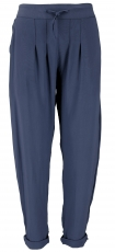 Narrow trousers, pencil pants, summer trousers - navy blue