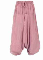 Children trousers, harem trousers, Aladdin trousers - pink