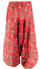 Children trousers, harem trousers, Aladdin trousers - red