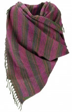 Soft Goa Scarf/Stole - pink/green