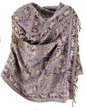 Indian pashmina scarf, scarf, boho stole with paislay pattern - l..