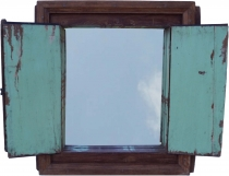 Antique mirror made of old window - Model 3