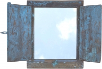 Antique mirror made of old window - Model 6