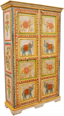 Wardrobe with elephant carvings and painting - Model 3