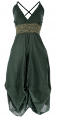 Long summer dress hippie chic - olive