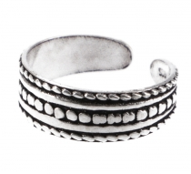 Silver toe ring - Tribal 2