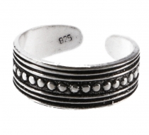 Silver toe ring - Tribal 1