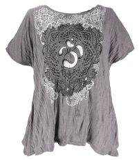 Baba T-Shirt for strong women, Plus Size T-Shirt - grey/Om