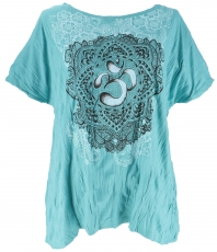 Babu T-Shirt for strong women, Plus Size T-Shirt - turquoise/om