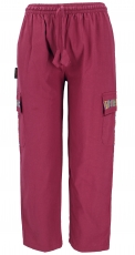 Yoga pants, Goa ethno pants, cargo pants - bordeaux red