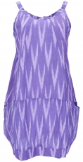 Boho mini dress, summer tunic, little dangler - lilac