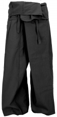 Thai fisherman pants in cotton, wrap pants, yoga pants - M/L blac..