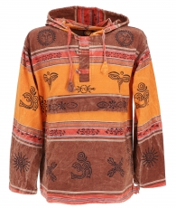 Goa hoody, Baja Hoody Nepalhoodie - rusty orange