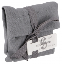 Handmade scented soap in a cotton bag, 100 g Fair Trade - Cedar