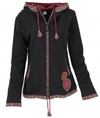 Nepal ethno jacket, embroidered jacket - black