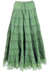 Skirt hippie, boho tiered skirt with lace, convertible maxi skirt..