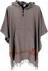 Poncho Hippie chic, warm Andean poncho - camel