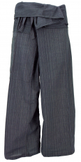 Thai fisherman pants from striped woven fabric, wrap pants, yoga ..