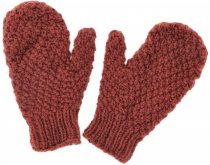 Hand knitted mittens, gloves, mittens, mittens, mittens - rust-re..
