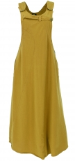 bib skirt, strap dress, hippie skirt - mustard yellow