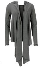 Convertible wrap - cardigan, Boho cardigan - granite-grey/Model 2