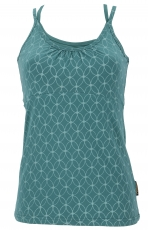 Yoga-Top organic cotton flower of life - emerald