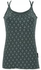 Yoga-Top Organic Cotton Flower of life - fern green