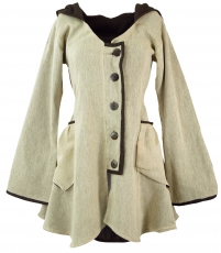 Short Coat, Long Elf Jacket - beige