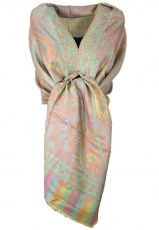 Silky shiny Indian Pashmina scarf/stole, shawl - gold/bronze