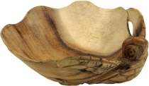 Carved wooden bowl, fruit bowl turtle