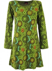 Hippie mini dress Boho chic, Tunic - green