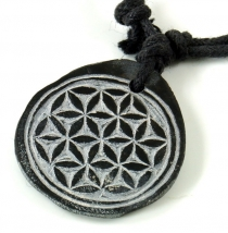 Tibet necklace made of slate, Nepalese jewellery, amulet - Flower..