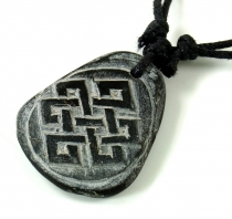 Tibet necklace made of slate, Nepalese jewellery, amulet - endles..