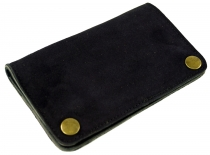 tobacco pouch, tobacco pouch, leather swivel pouch - black