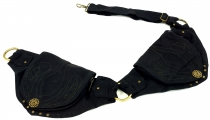Festival Ethno Sidebag, Nepal belt bag - black