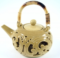 Exotic ceramic teapot