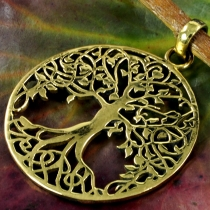 Amulet `Tree of Life` brass pendant - Model1