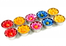 Exotic scented candlestea lights, decorative tea lights in flower..