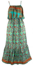 Maxi dress, Boho summer dress - turquoise green